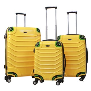 Gabbiano Exotic Polycarbonate 3-piece Yellow Expandable Hardside Spinner Set