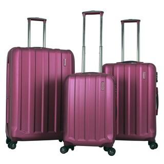 Gabbiano Supreme 3-piece Purple Polycarbonate Expandable Hardside Spinner Set