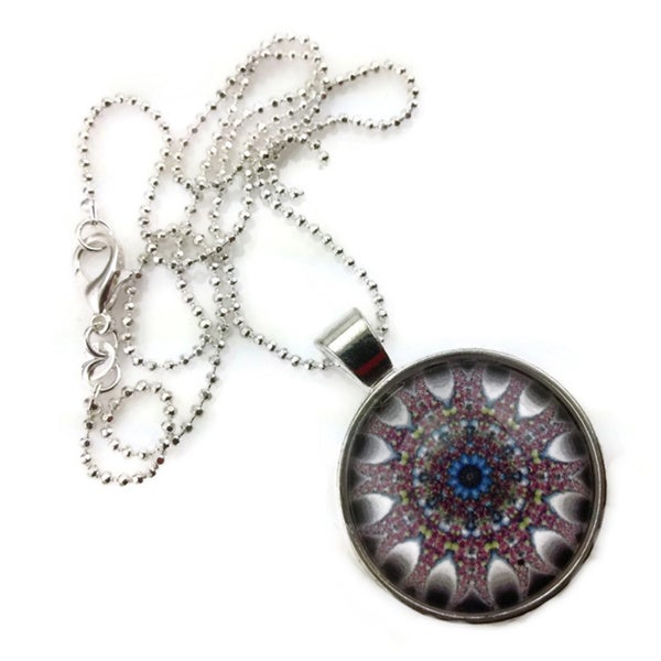 Mama Designs Handmade Purple Glass Dome Necklace 15493502