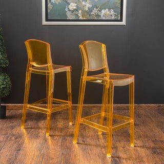 Christopher Knight Home Riley Transparent Barstool (Set of 2)