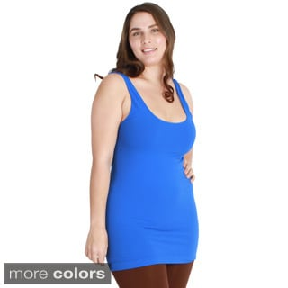Nikibiki Women's Plus-size Seamless Colors Long Camisole Top