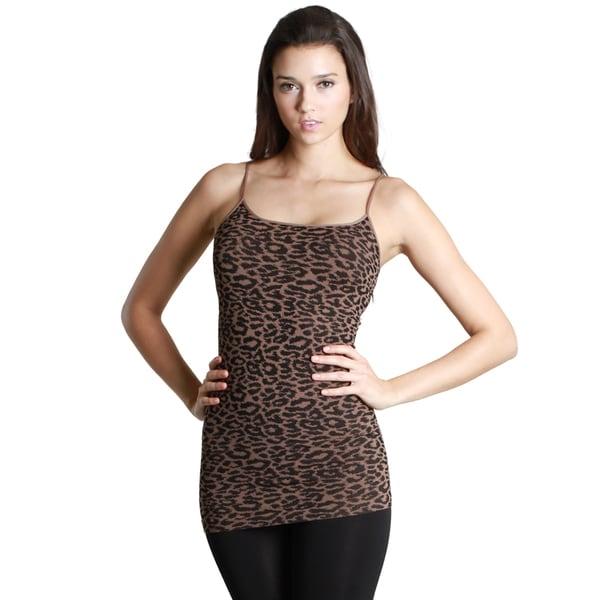 Nikibiki Women's Seamless Leopard Print Rib Camisole Top 15493731