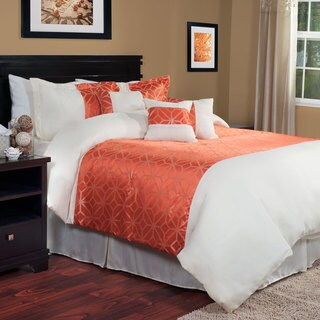 Windsor Home Orange Pumpkin 7-piece Comforter Set