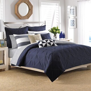 Nautica Lawndale Navy Cotton Coverlet