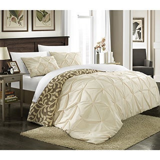 Chic Home Talitha Pleated Reversible 3-piece Duvet Cover Set
