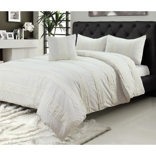 Pintuck 4-piece Duvet Set