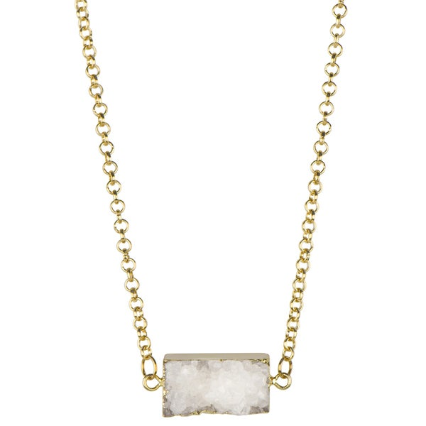 Brass White Charm Necklace