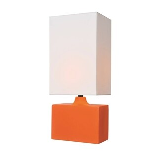 Lite Source Kara Table Lamp, Orange