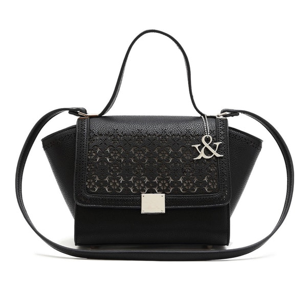 Hue & Ash Small Ornate Cut Trapeze Bag