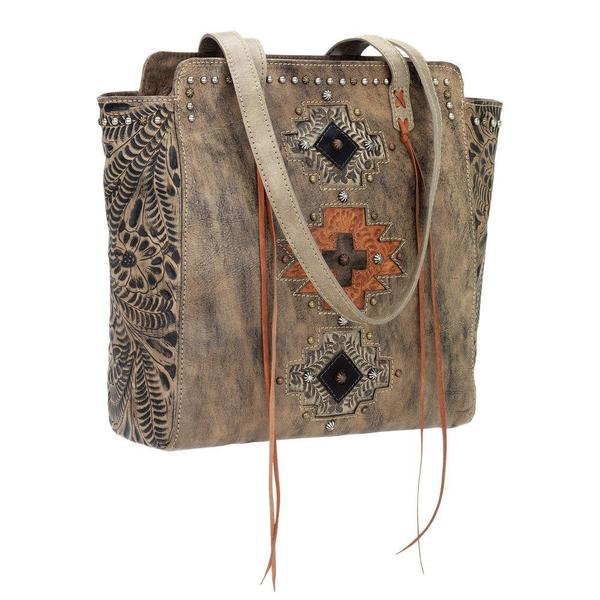 American West Sand/ Harvest Tan Navajo Soul Tote Bag
