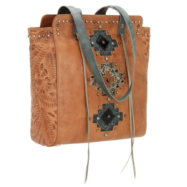 American West Turquoise/ Sand Navajo Soul tote Bag