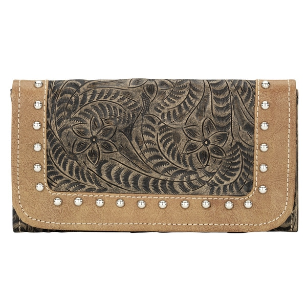American West Charcoal True Colors Tri-Fold Wallet
