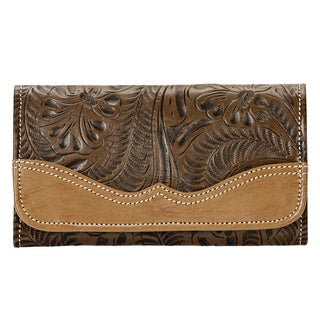 American West Earth Brown Graciebird Tri-Fold Wallet