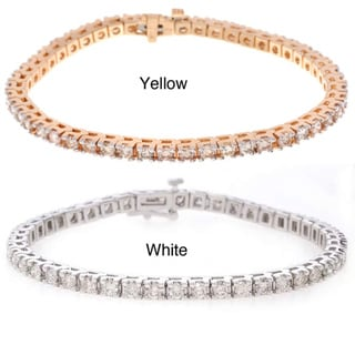 14k Gold 5ct Diamond Traditional Tennis Bracelet (I-J, SI2)