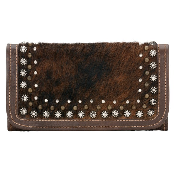 American West Natural Brindle Free Spirit Tri-Fold Wallet