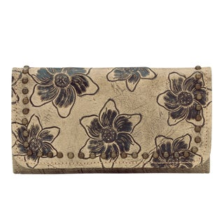 American West Stone Flower Child Tri-Fold Wallet