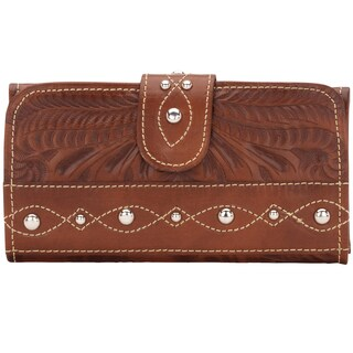 American West Antique Brown Over the Rainbow Tri-Fold Wallet