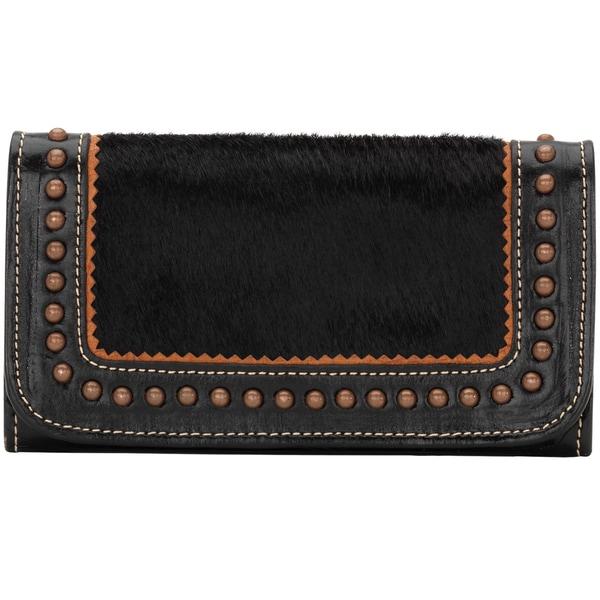 American West Black Tulsa Twilight Tri-Fold Wallet