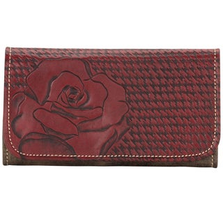 American West Pomegranate Coming up Roses Tri-Fold Wallet
