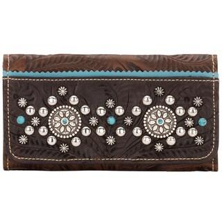 American West Chestnut Brown Hayloft Tri-Fold Wallet
