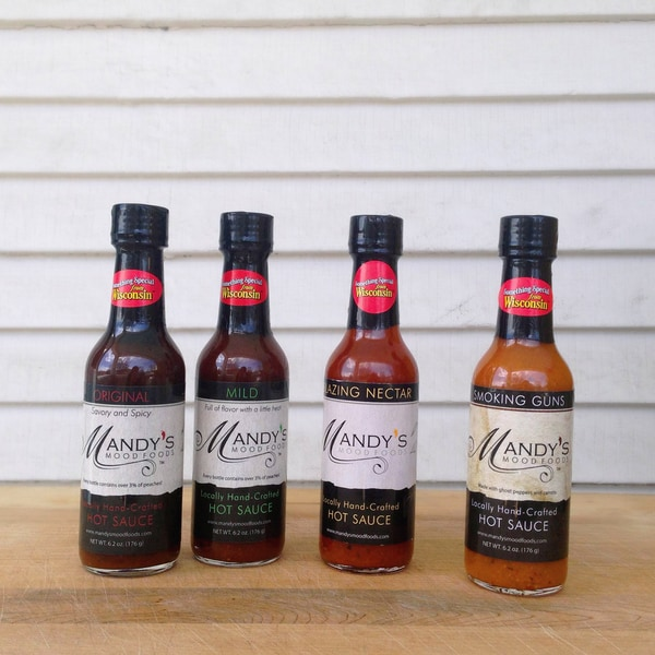 Wisconsin Food Hub Mandy's Mood Foods Hot Sauce (Pack of 4)