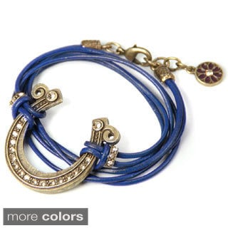 Sweet Romance Pewter Get Lucky Horseshoe Wrap Bracelet