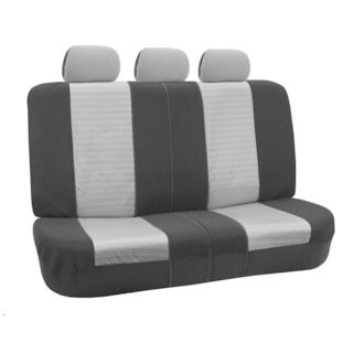 FH Group Grey and Black Deluxe 3D Air Mesh Split Auto Bench Seat Cover