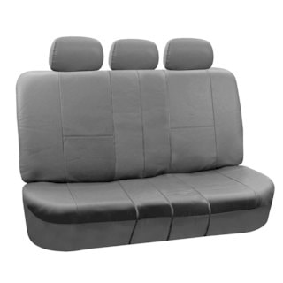 FH Group Black PU Leather SPLIT Bench Auto Seat Covers