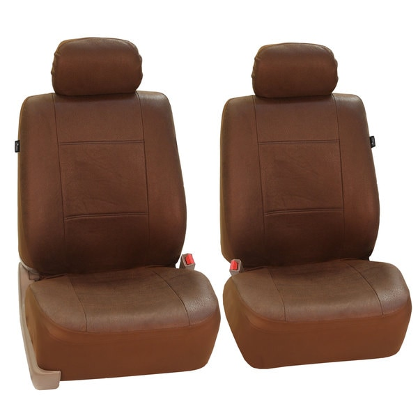 FH Group Brown Airbag-compatible Antique Style Front Bucket Covers (Set of 2)