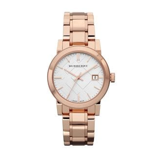 Burberry Women's BU9104 'The City' Rose tone Stainless steel Watch
