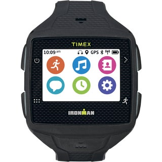 Timex Men's TW5K88800F5 Ironman One GPS Watch, Full Size, Black/Gray