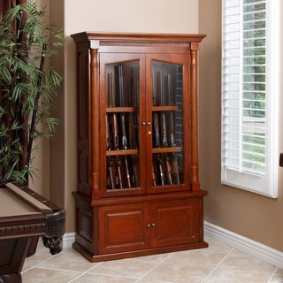 Winchester 12-gun Solid Oak Wood Glass Display Cabinet