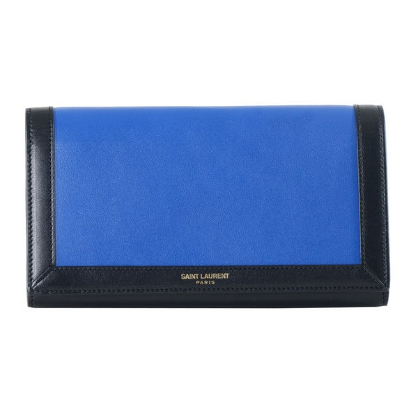 Saint Laurent Classic Paris Large Flap Bordered Wallet