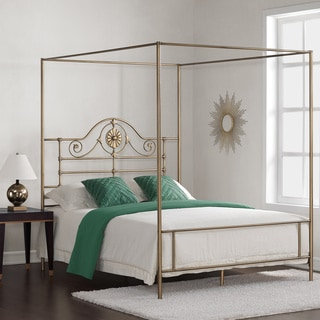 Medallion Brushed Gold Queen Bed