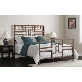 Geometric Queen Size Bed