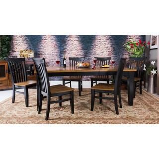 Somette Crosby Oak 7-piece Table Set with Sideboard Server
