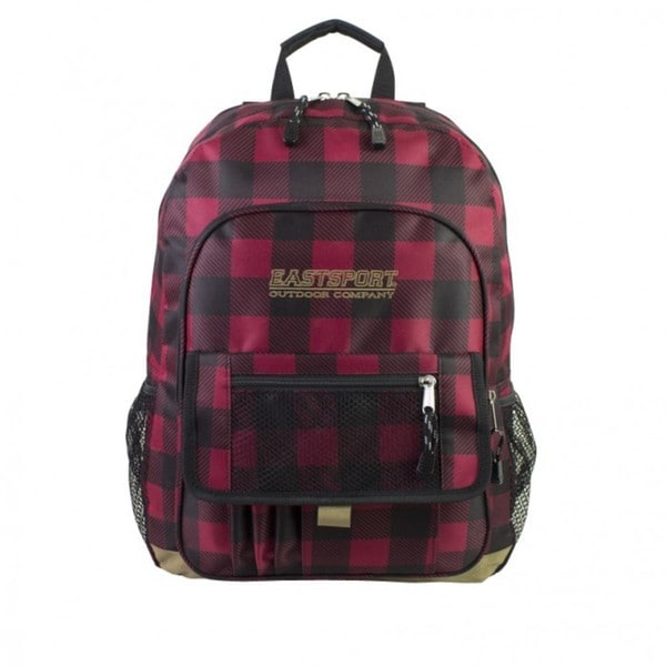 Eastsport Plaid Basic Tech Backpack