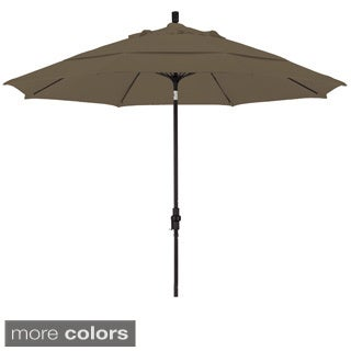 Somette 11-foot Market Umbrella with Aluminum Center Pole/ Matted Black Finish and Sunbrella Fabric