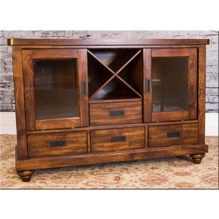 Somette Eastlake Almond Asian Hardwood Sideboard Server