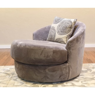 Somette Ara Grey Swivel Chair