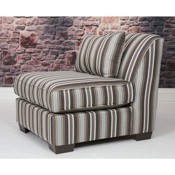 Somette Draco Striped No Arm Slipper Chair