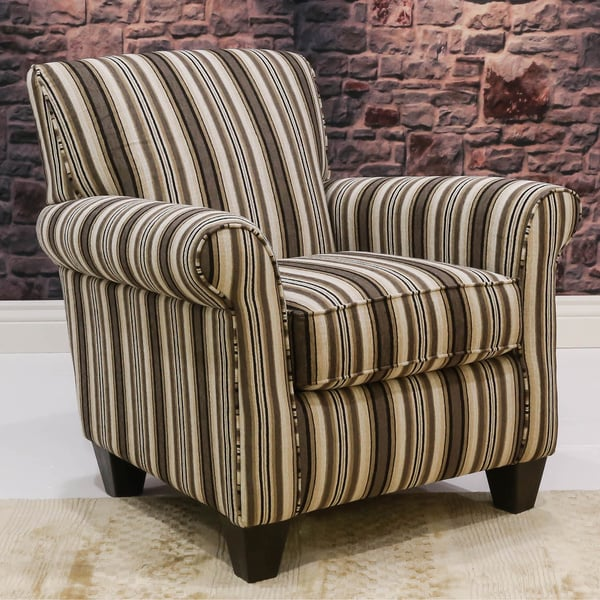 Somette Indus Striped Contrast Club Chair