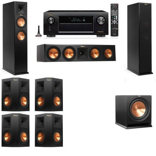 Klipsch RP-250F Tower Speakers-R112SW-7.1-Denon AVR-X4100W