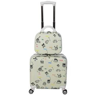 World Traveler Bari 2-piece Hardside Weekender Carry On Spinner Luggage Set