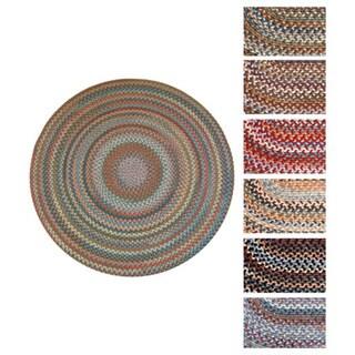 Augusta Round Braided Wool Rug by Rhody Rug