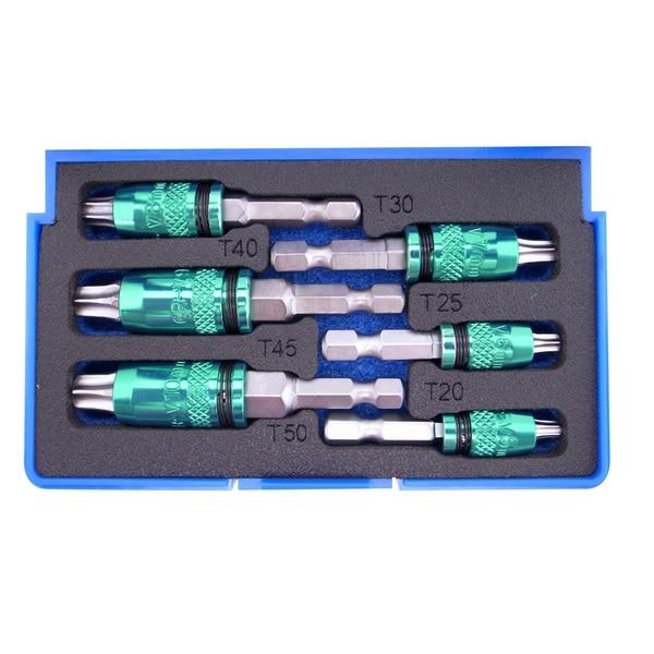 Astro Pneumatic Tool 2-in-1 Internal Torx and External Metric Hex Bit Set, 6-Piece