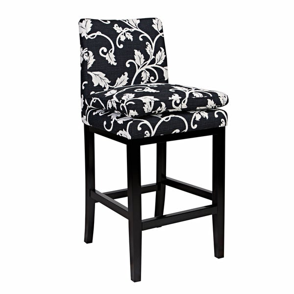 Better Living Orion 29-inch Black and White Vine Bar Stool