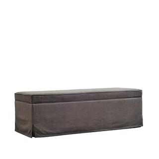 Better Living Moss Green Linen Skirted Bench Storage Ottoman