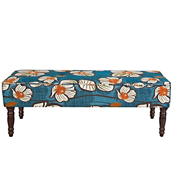 Better Living Jemma Blue and Orange Floral Large Bench