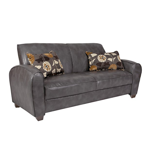 Better Living Roadster Grey Renu Leather Sofa
